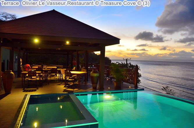 Terrace Olivier Le Vasseur Restaurant Treasure Cove