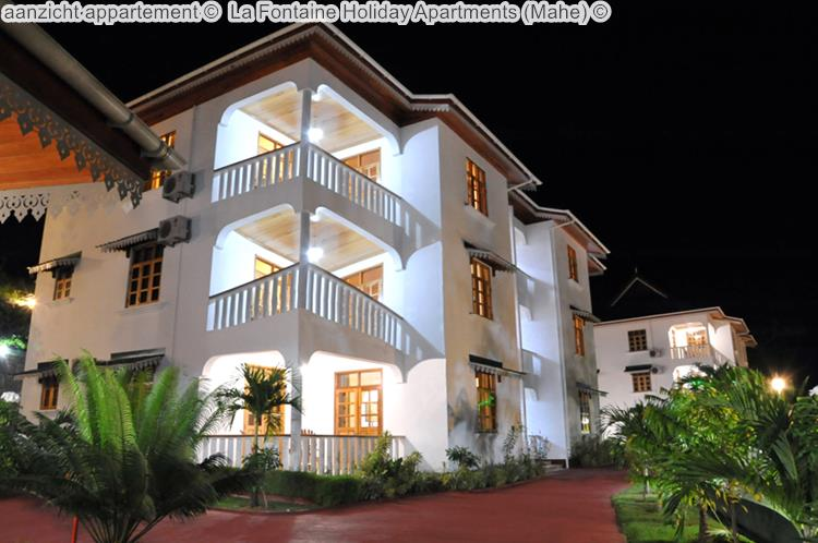 aanzicht appartement La Fontaine Holiday Apartments Mahe