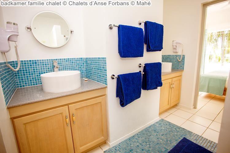badkamer familie chalet Chalets d'Anse Forbans Mahé