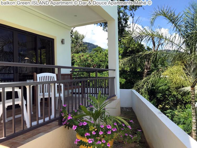 balkon Green ISLAND Apartment Dar & Douce Apartments Mahé