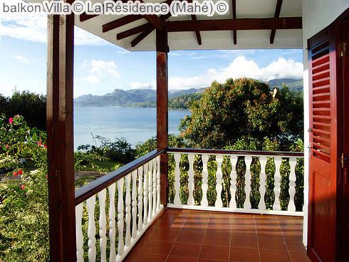 balkon Villa La Résidence Mahé