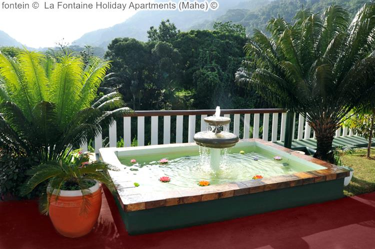 fontein La Fontaine Holiday Apartments Mahe
