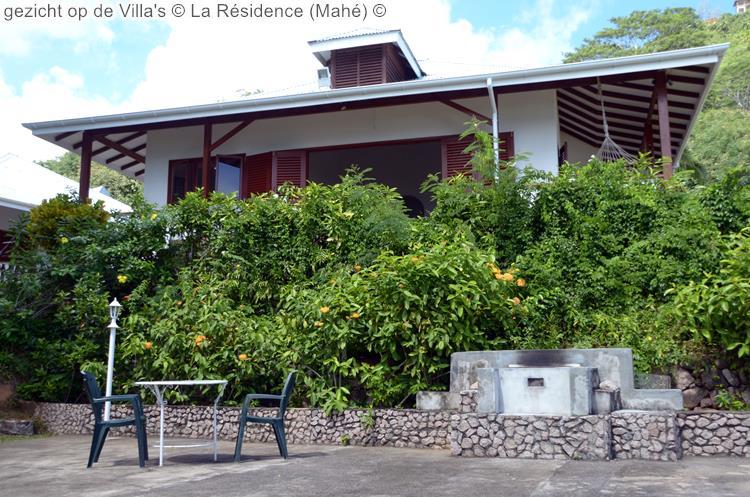 gezicht op de Villa's La Résidence Mahé