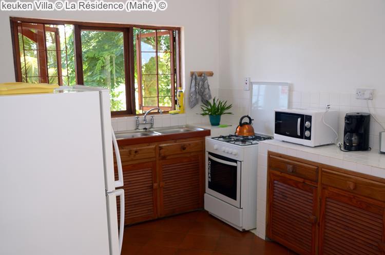 keuken Villa La Résidence Mahé