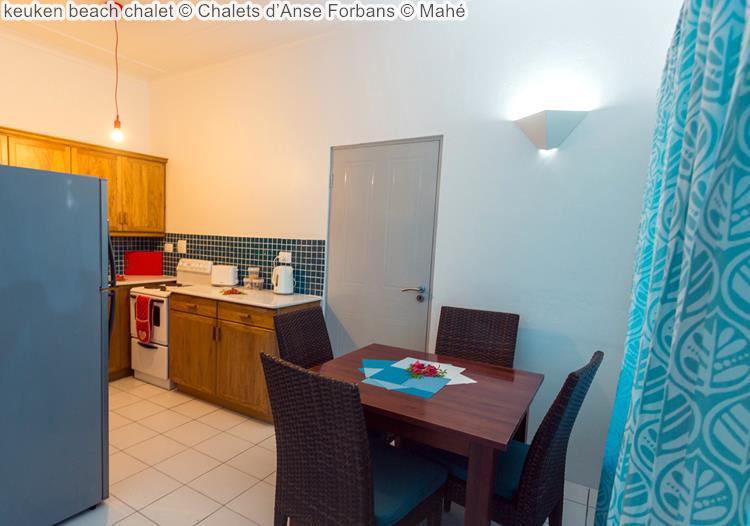 keuken beach chalet Chalets d'Anse Forbans Mahé