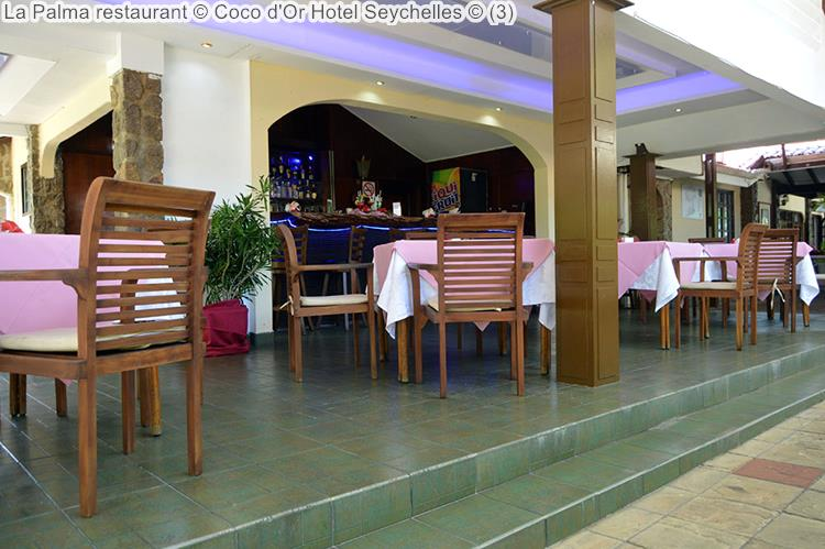 buitenterras La palma restaurant Coco d'Or Hotel Seychellen