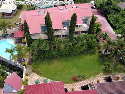 luchtgezicht op Coco d'Or Hotel Seychellen