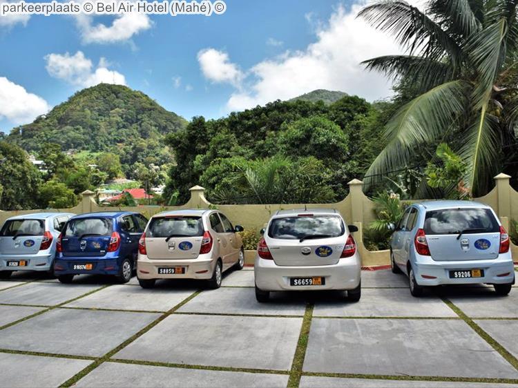 parkeerplaats Bel Air Hotel Mahé