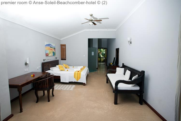 slaapkamer premier room Anse Soleil Beachcomber hotel Mahé Seychellen