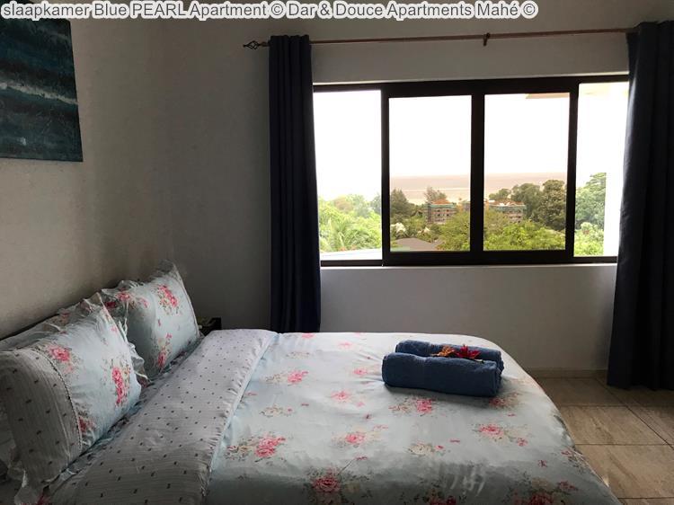 slaapkamer Blue PEARL Apartment Dar & Douce Apartments Mahé