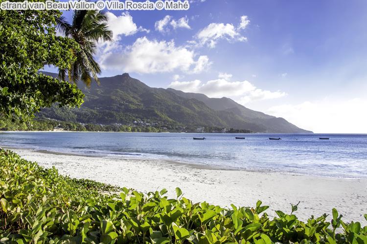 strand van Beau Vallon Villa Roscia Mahé