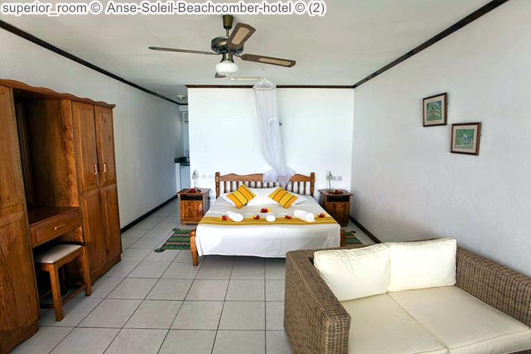 slaapkamer superiorkamer Anse Soleil Beachcomber hotel Mahé Seychellen