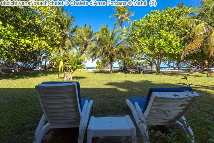 uitzicht vanaf beach chalet Chalets d'Anse Forbans Mahé