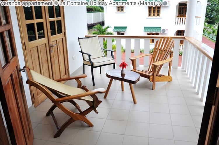 veranda appartement La Fontaine Holiday Apartments Mahe