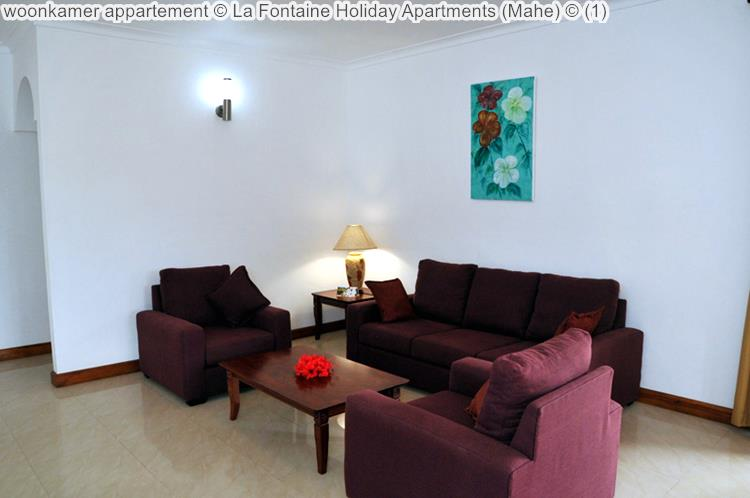 woonkamer appartement La Fontaine Holiday Apartments Mahe