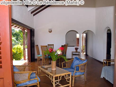 zitgedeelte Villa La Résidence Mahé