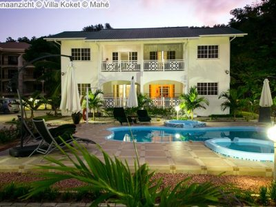buitenaanzicht Villa Koket Mahé