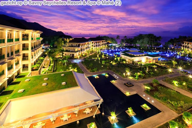gezicht op Savoy Seychelles Resort & Spa Mahé