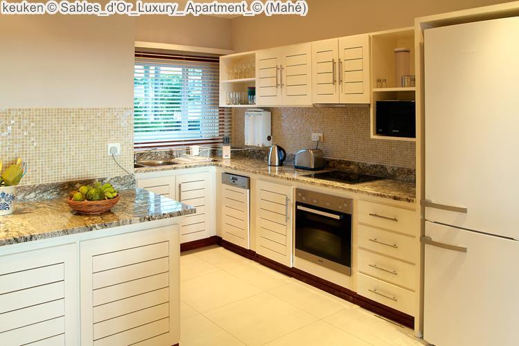 keuken Sables d'Or Luxury Apartment Mahé