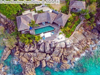 luchtgezicht Sea Monkey Seychelles Mahé
