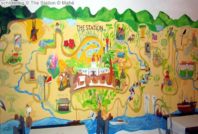 schildering The Station Mahé