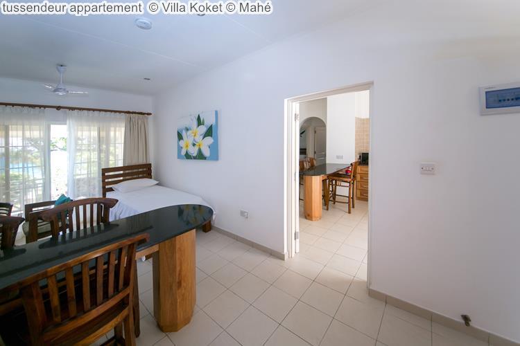 tussendeur appartement Villa Koket Mahé