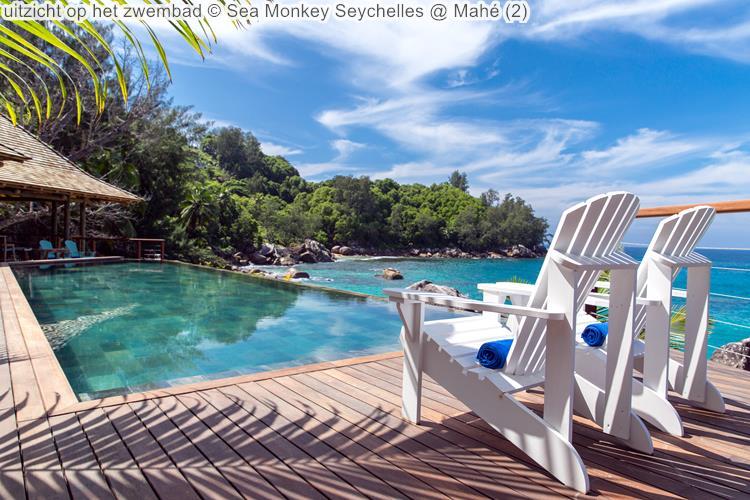 uitzicht op het zwembad Sea Monkey Seychelles Mahé
