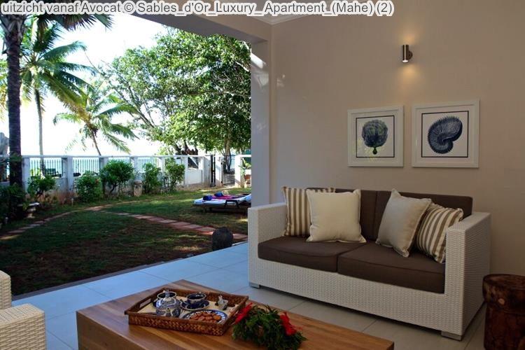 uitzicht vanaf Avocat Sables d'Or Luxury Apartment Mahe