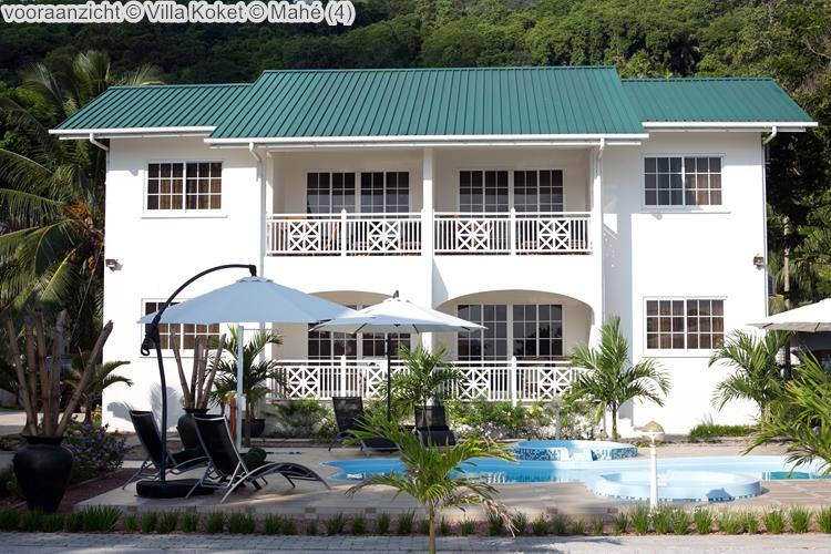 vooraanzicht Villa Koket Mahé
