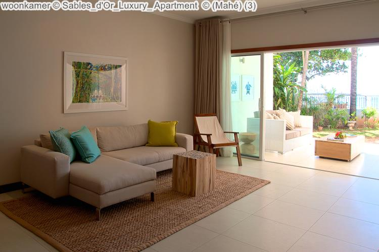 woonkamer Sables d'Or Luxury Apartment Mahé