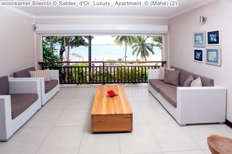 woonkamer Bilembi Sables d'Or Luxury Apartment Mahé