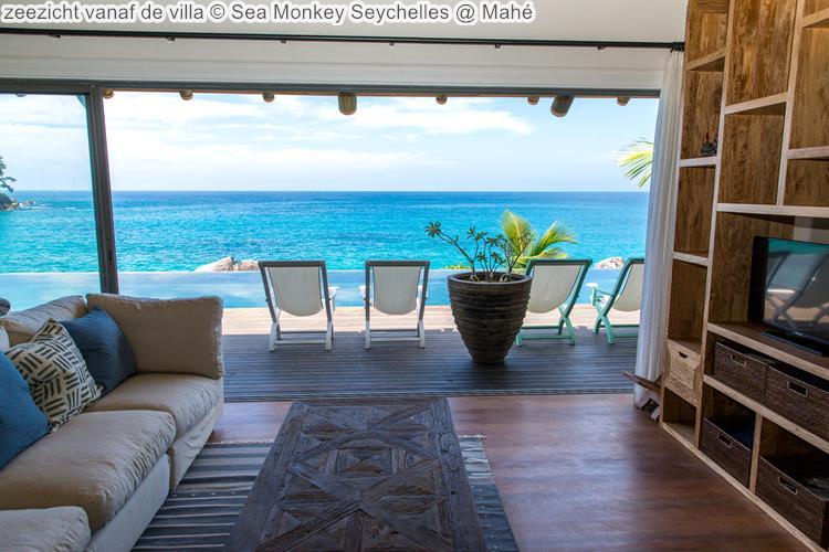 zeezicht vanaf de villa Sea Monkey Seychelles Mahé