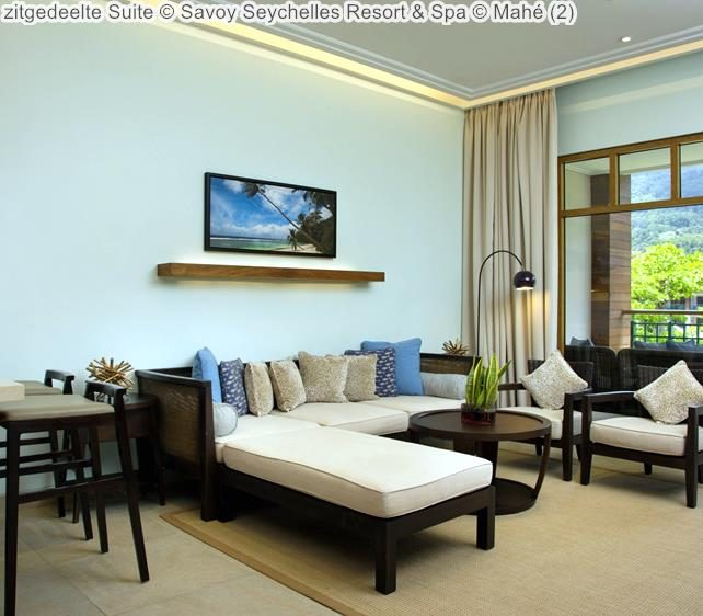 zitgedeelte Suite Savoy Seychelles Resort & Spa Mahé
