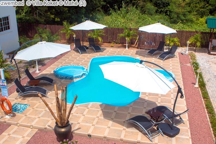 zwembad Villa Koket Mahé