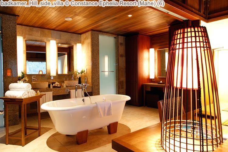 badkamer Hill side villa Constance Ephelia Resort Mahe