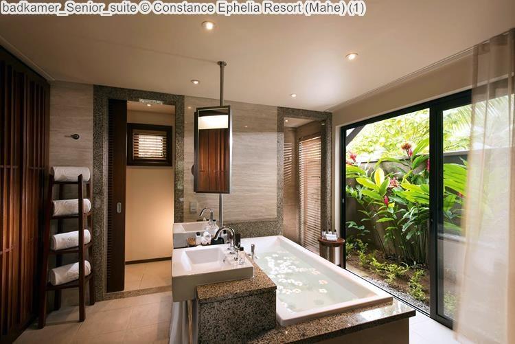 badkamer Senior suite Constance Ephelia Resort Mahe