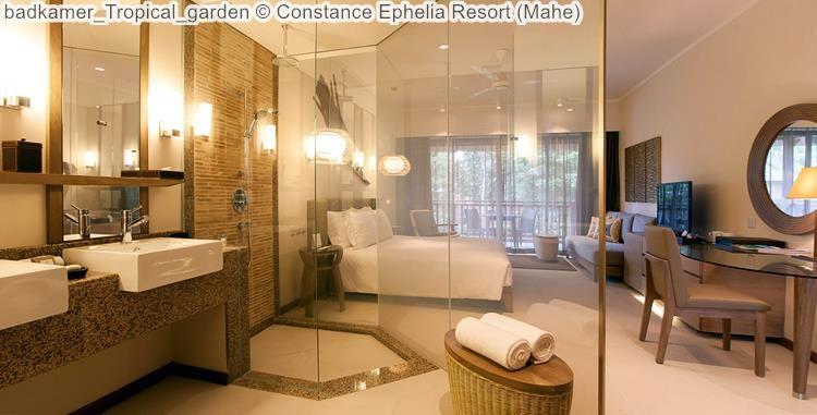 badkamer Tropical garden Constance Ephelia Resort Mahe