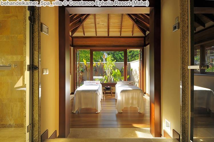 behandelkamer Spa villa Constance Ephelia Resort Mahe