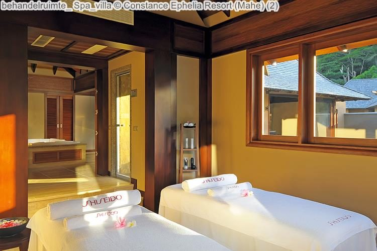 behandelruimte Spa villa Constance Ephelia Resort Mahe
