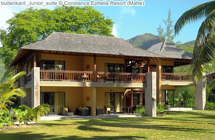 buitenkant Junior suite Constance Ephelia Resort Mahe