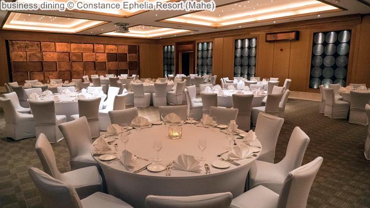 business dining Constance Ephelia Resort Mahe