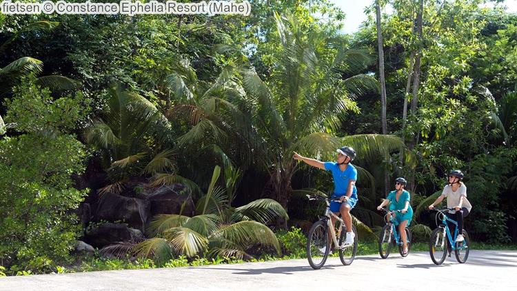 fietsen Constance Ephelia Resort Mahe