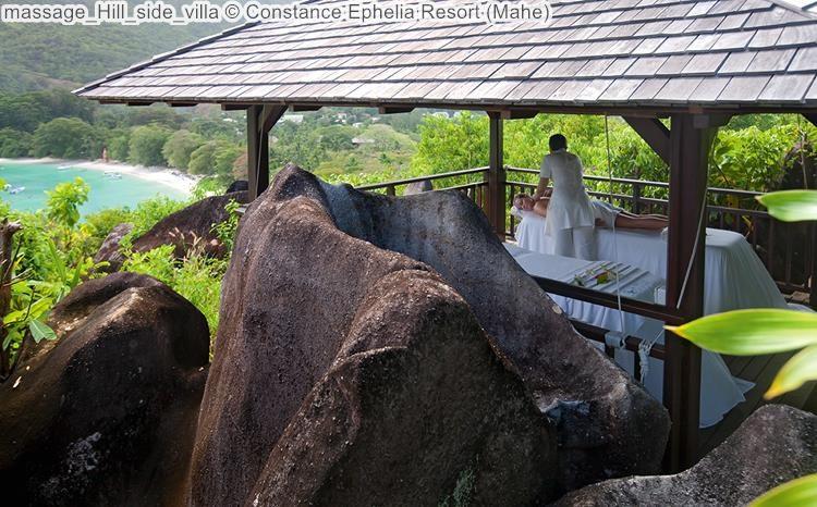 massage Hill side villa Constance Ephelia Resort Mahe