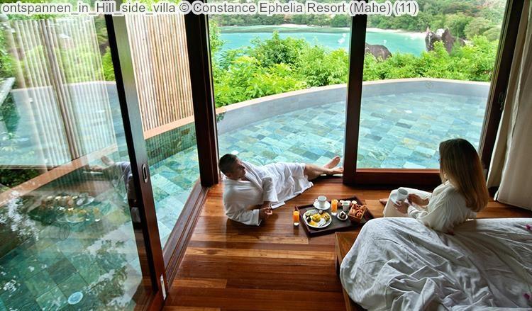 ontspannen in Hill side villa Constance Ephelia Resort Mahe