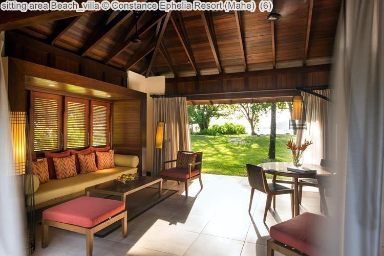 sitting area Beach villa Constance Ephelia Resort Mahe