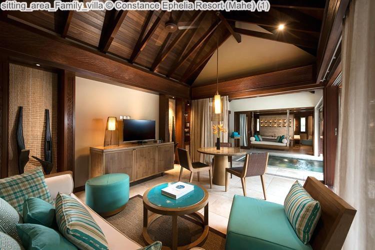 sitting area Family villa Constance Ephelia Resort Mahe