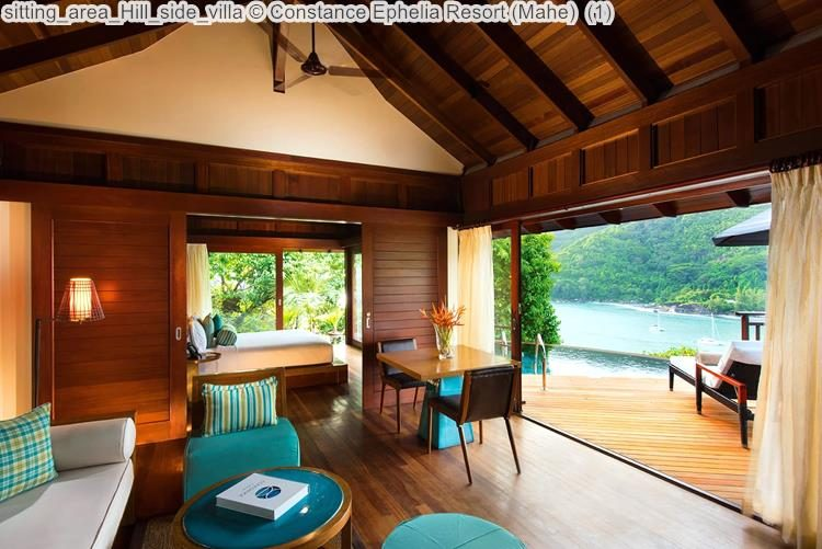 sitting area Hill side villa Constance Ephelia Resort Mahe