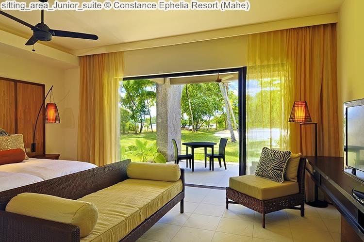 sitting area Junior suite Constance Ephelia Resort Mahe