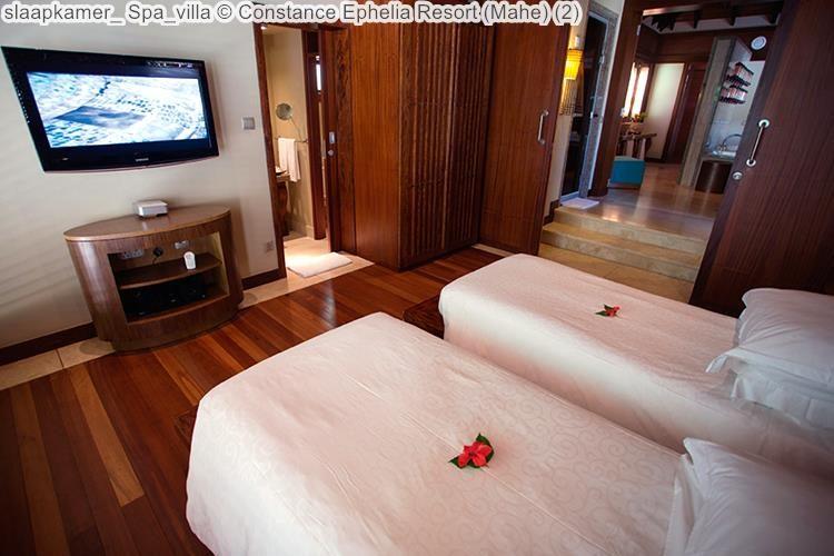 slaapkamer Spa villa Constance Ephelia Resort Mahe