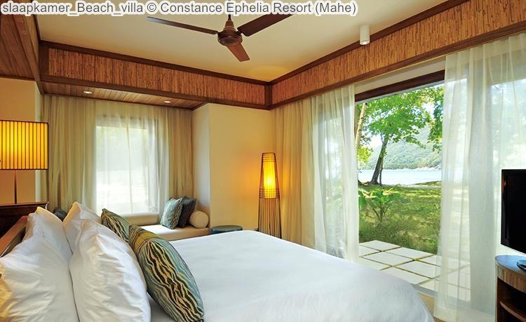 slaapkamer Beach villa Constance Ephelia Resort Mahe